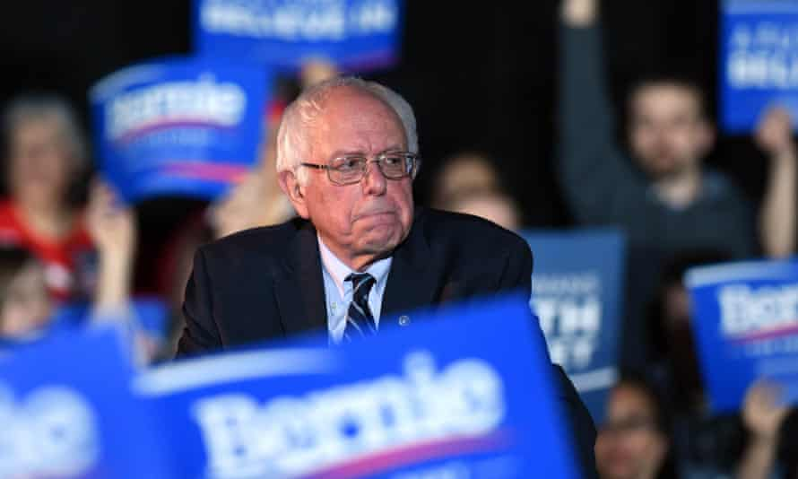 Bernie Sanders attends a campaign rally in Des Moines on Sunday.