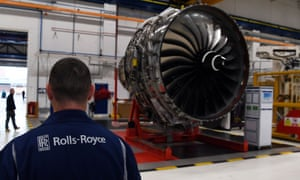 Engines being built at Rolls-Royce in Derby