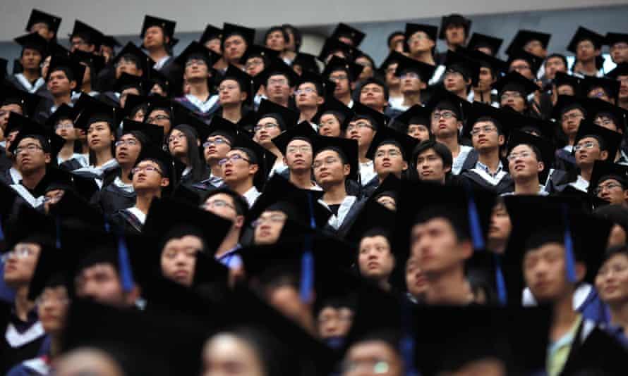 Graduation day at Fudan University in Shanghai.