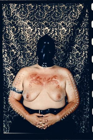 Catherine Opie, Self-Portrait Pervert, 1994.