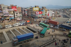 The construction of the city's first underpass at Kalanki is both a source of pride and frustration. Vehicles can wait for an hour to pass through the junction