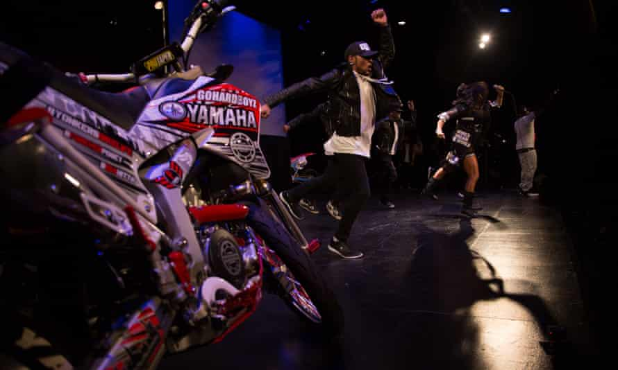 Dancers on stage at the Motocross Freestyle Streetriders awards