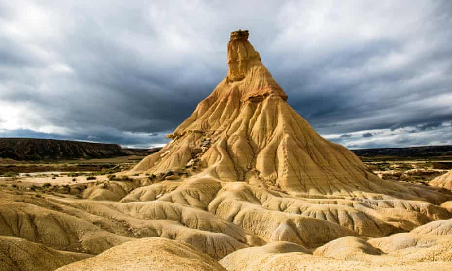 Cabezos (rock formation) in the Bardenas Reales natural park.