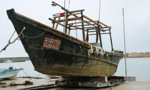 Japanese authorities are investigating boats carrying decomposing bodies found drifting off the north-western coast.