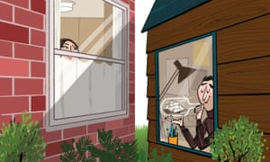 Bill Brown illustration about getting a garden office