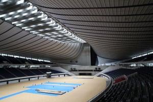 The interior of Yoyogi Nation Stadium