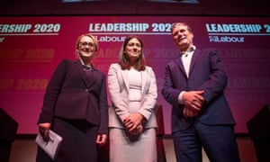 Labour leadership candidates Rebecca Long-Bailey, Lisa Nandy and Keir Starmer.