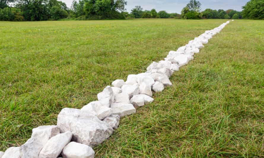 a Richard Long sculpture, marked by the influence of Watkins' theories.