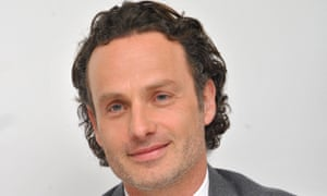 Andrew Lincoln at a Walking Dead press conference in April