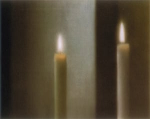 Two candles (499-4), 1982, oil on canvas