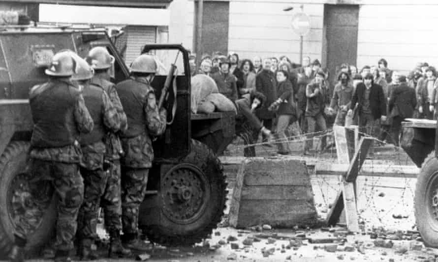 British troops in Derry in 1975.
