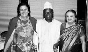 Fred Sai at the International Conference on Population and Development in Cairo in 1994 with Aziza Hussein (Egypt), left, and Avabai Wadia (India), both former presidents of the International Planned Parenthood Federation.