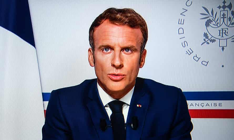 Emmanuel Macron makes a televised address