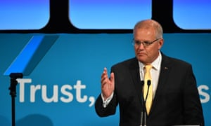 Scott Morrison tells the Australian Financial Review Business Summit in Sydney on Tuesday that 'the economy will be weaker under Labor'.