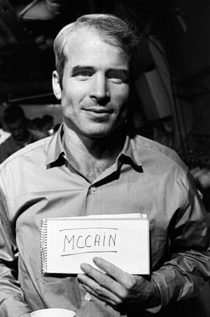 John McCain after his release from a North Vietnamese prison camp.