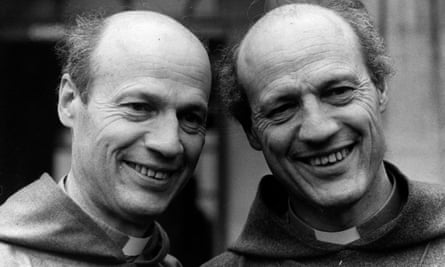 Peter Ball (right), pictured with his twin brother Michael, also a priest, in 1980.