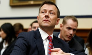 Peter Strzok testifies on Capitol Hill in July 2018.