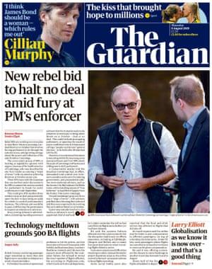 Guardian, cover, Thursday, August 8, 2019