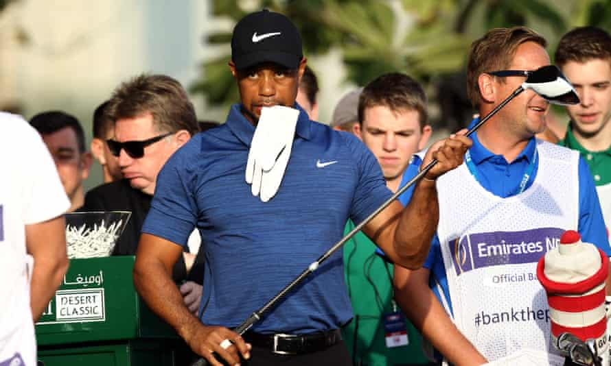 Tiger Woods pictured during the Dubai Desert Classic golf tournament in February.