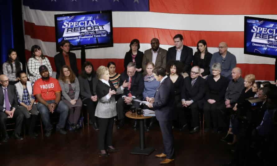 Sunday's debate spilled over into an hourlong town hall hosted by Fox News in downtown Detroit, during which the candidates took turns speaking to prospective Michigan voters.