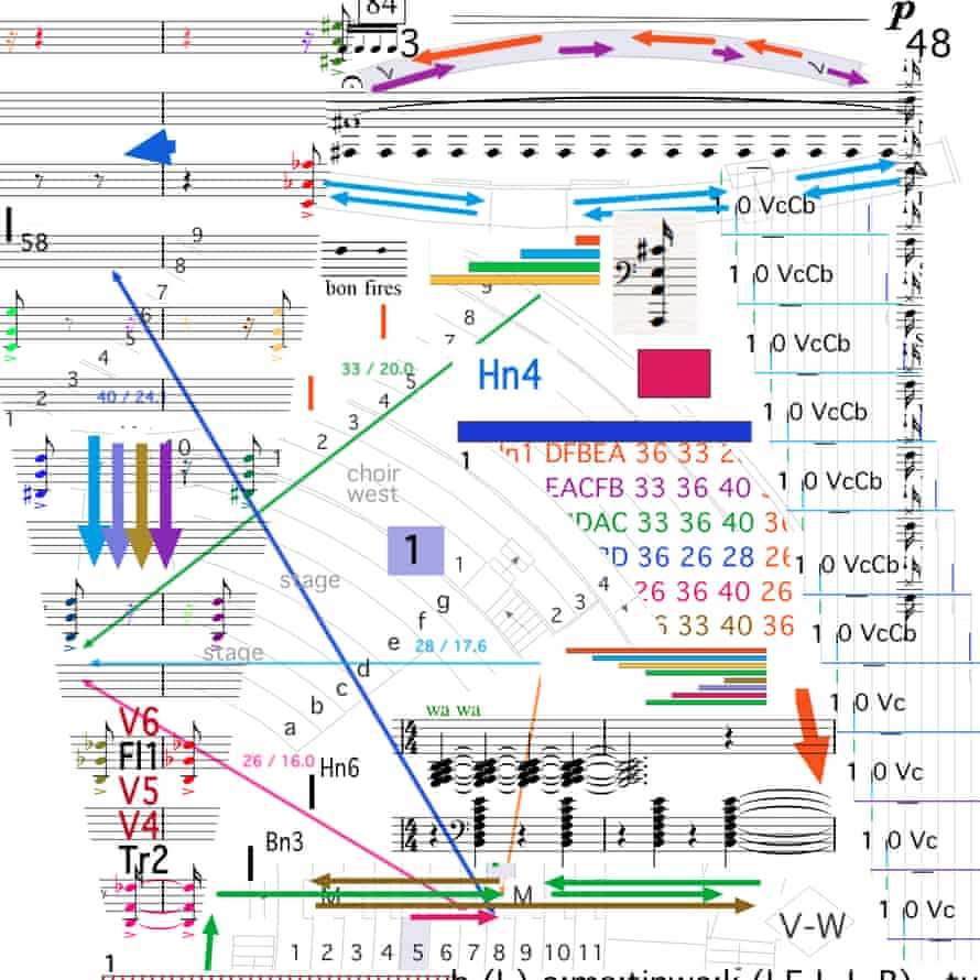 Part of Benedict Mason's intricate score for Meld.