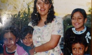 Berta Caceres with her four children in a photo taken in 1999.