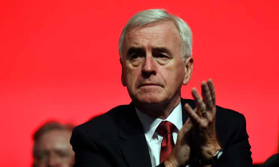 John McDonnell at the Labour party conference.