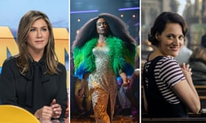 Jennifer Aniston in The Morning Show, Billy Porter in Pose, and Phoebe Waller-Bridge in Fleabag.