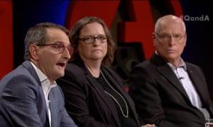 Francis Sullivan, Viv Waller and Jim Molan on Q&A on Monday night