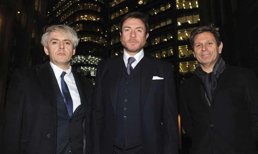 Duran Duran members Nick Rhodes, Simon Le Bon and Roger Taylor.