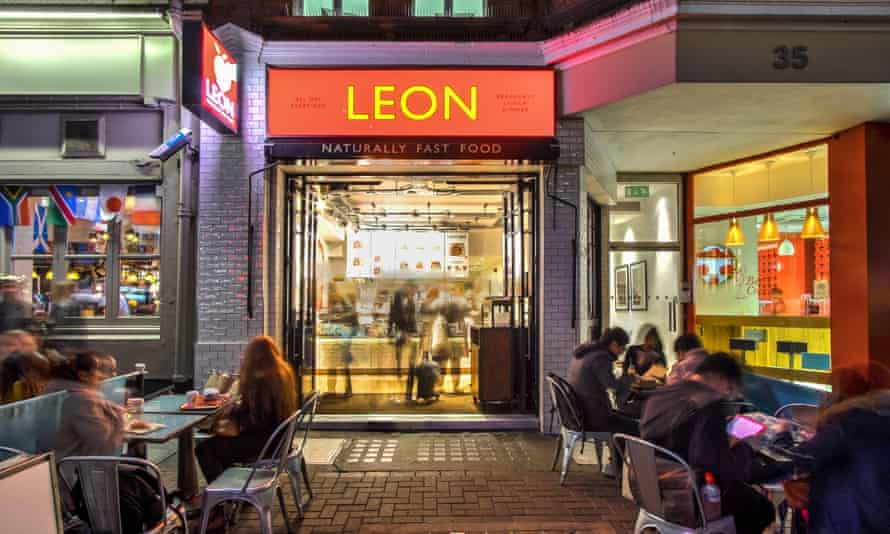 The Leon restaurant in Carnaby Street, London, where the chain was founded in 2004.