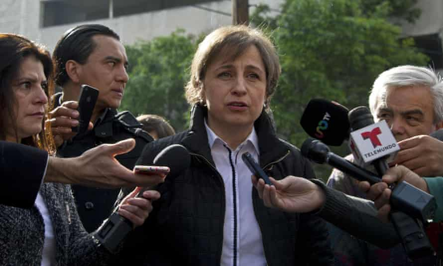 Mexican journalist Carmen Aristegui was fired Sunday after her employer MVS Radio denounced her involvement in Mexicoleaks without its permission.