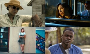 Golden Globes 2018 nominations, clockwise from left: Mary J Blige in Mudbound, Sally Hawkins in The Shape of Water, Daniel Kaluuya in Get Out, Saoirse Ronan in Lady Bird.