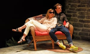 Janie Dee and Lewis Reeves in the play Vanya and Sonia and Masha and Spike at Ustinov, Bath.