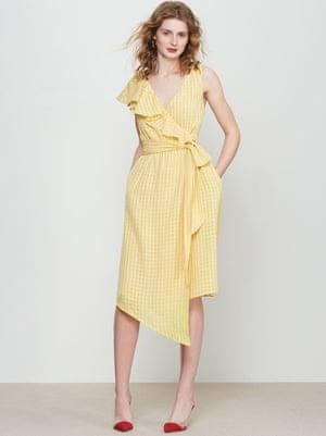 Francesca Frill wrap dress,£125, Kitri