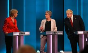 Andrea Leadsom, Gisela Stuart and Boris Johnson spoke in favour of leaving the EU.