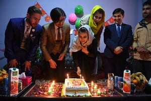 Enjila Naseri celebrates her birthday with friends and family.