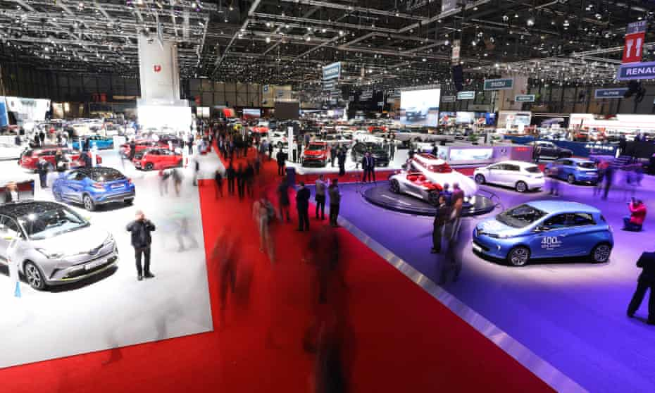 Cars displayed at the Geneva International Motor Show, Switzerland. The automobile industry intentionally circumvented rules to clean up diesel pollution, experts say.