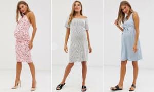 Arabella Chi modelling various maternity dresses for Asos