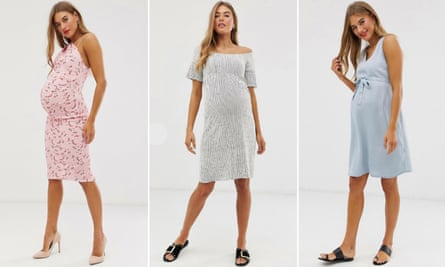 Arabella Chi modelling various maternity dresses for Asos