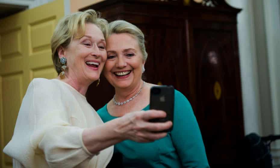 Meryl Streep and Hillary Clinton in Washington DC in 2012.