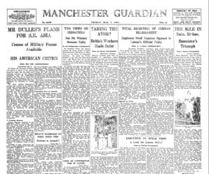 The record as reported on the front page of the Manchester Guardian, 7th May 1954.