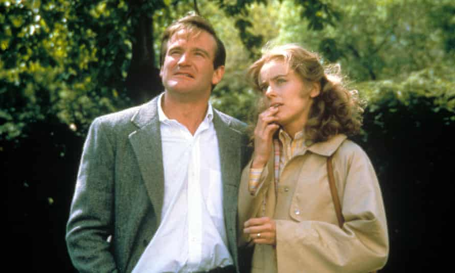 Still from the 1982 film of <em>The World According to Garp</em>, with Robin Williams and Mary Beth Hurt.