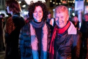 Robin Plaister with actor Jessica De Gouw