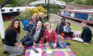 Tim and Pru with their family in what might be the final episode of Great Canal Journeys.