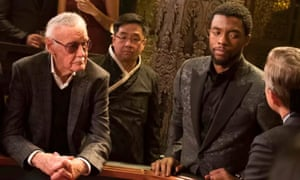 Lee performed a cameo role in Black Panther, released this year