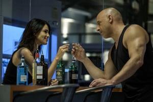 Eiza Gonzalez and Vin Diesel in Blooodshot