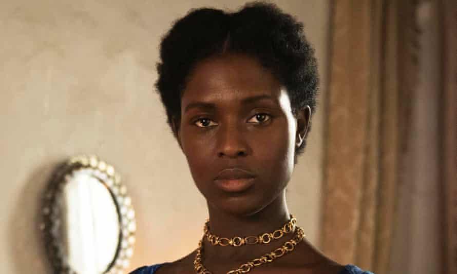 Anne Boleyn played by Jodie Turner-Smith.
