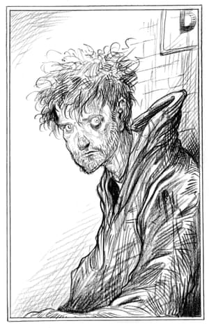 Richard Mayhew from Chris Riddell's illustrated edition of Neil Gaiman's Neverwhere