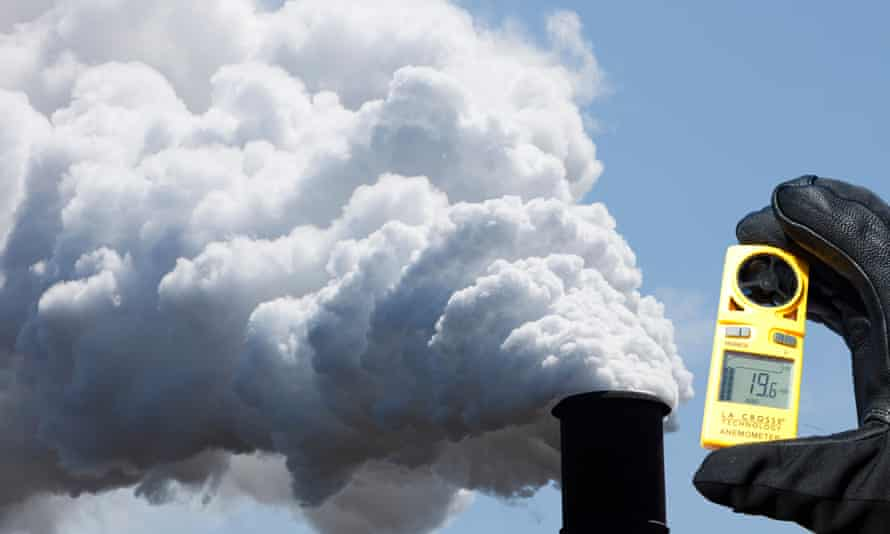 Emissions from a steelworks